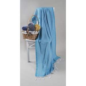 купить Пляжное полотенце Barine Pestemal Engin Turquouise Голубой фото