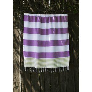 купить Пляжное полотенце Barine Pestemal Journey Olive-Purple Фиолетовый фото
