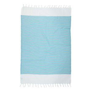 купить Пляжное полотенце Barine Pestemal White Imbat Aqua Turkuaz Бирюзовый фото