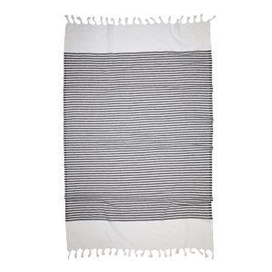 купить Пляжное полотенце Barine Pestemal White Imbat Black Серый|Черный фото