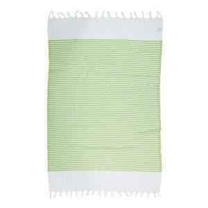 купить Пляжное полотенце Barine Pestemal White Imbat Green Зеленый фото