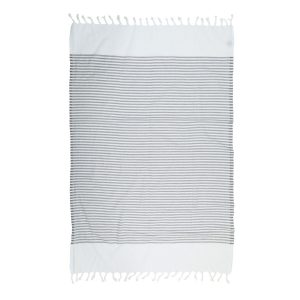 купить Пляжное полотенце Barine Pestemal White Imbat Grey Серый фото