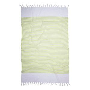 купить Пляжное полотенце Barine Pestemal White Imbat Lime Зеленый фото