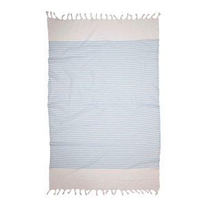 купить Пляжное полотенце Barine Pestemal White Imbat Powder-Blue Голубой фото