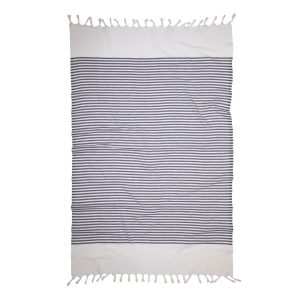 купить Пляжное полотенце Barine Pestemal White Imbat Royal Серый фото