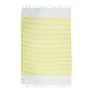 купить Пляжное полотенце Barine Pestemal White Imbat Yellow Желтый фото