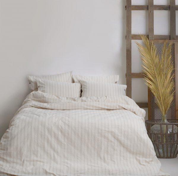 купить Постельное белье Barine Washed cotton Sunday beige Бежевый фото