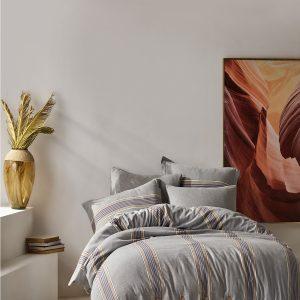 купить Постельное белье Buldans Mira Melanj gri king size Серый фото