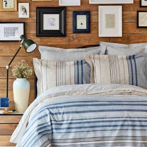 купить Постельное белье Karaca Home ранфорс Aspen mavi Голубой фото