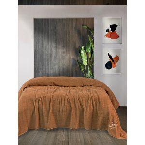 купить Простынь Iris Home махровая Camal Коричневый фото
