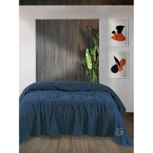 купить Простынь Iris Home махровая Mojalica blue Синий фото