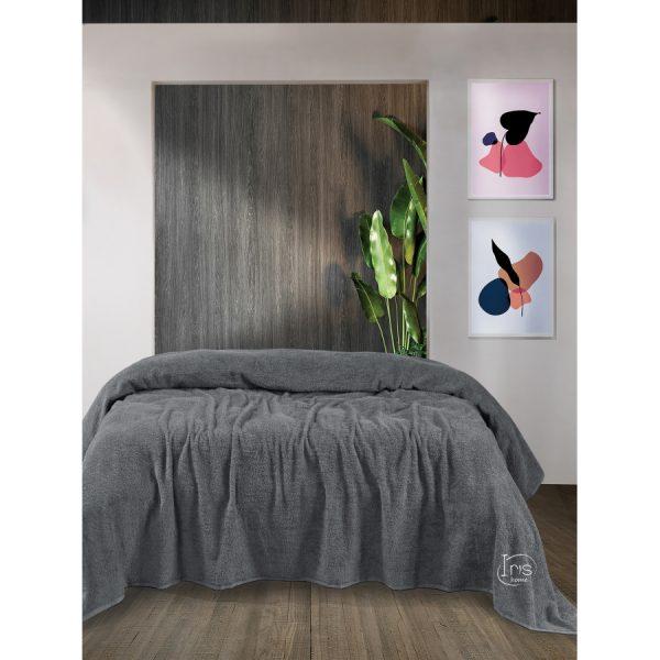 купить Простынь Iris Home махровая Orta gri Серый фото