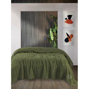 купить Простынь Iris Home махровая Pesto Зеленый фото