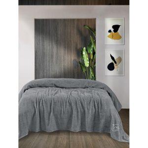 купить Простынь Iris Home махровая Quarry Серый фото