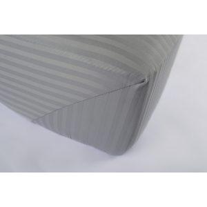 купить Простынь на резинке Lotus Отель Сатин Страйп 1*1 серый Серый фото