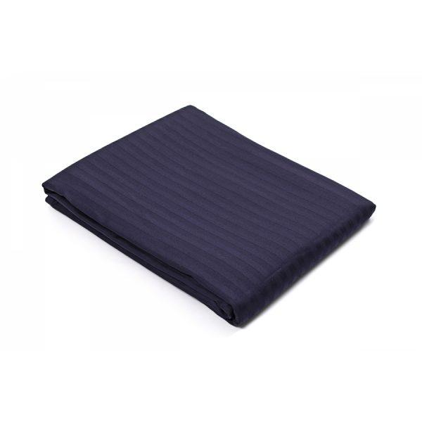 купить Простынь Lotus Отель Сатин Страйп 1*1 темно-синий Синий фото