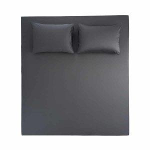купить Простынь на резинке с наволочками Penelope Stella antrasit Серый фото