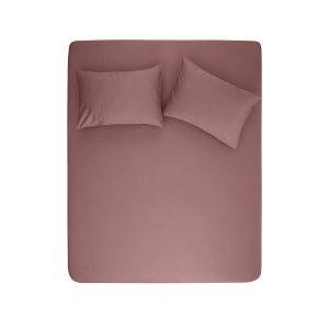 купить Простынь на резинке с наволочками Penelope Stella mauve Розовый фото