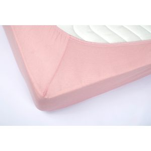 купить Простынь трикотажная на резинке Lotus Пудра Розовый фото