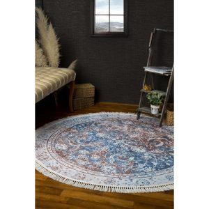 купить Ковер Irya-Carlee круглый 150x150 Голубой|Коричневый фото
