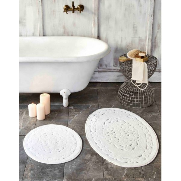 купить Набор ковриков Karaca Home-Obi ecru Белый|Кремовый фото