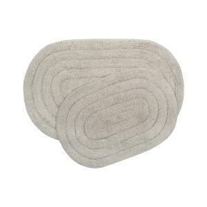 купить Набор ковриков Shalla-Edna tas Серый|Бежевый фото