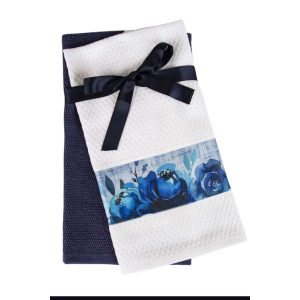 купить Набор кухонных полотенец 2шт Home аnd More-Belen Фиолетовый|Белый фото