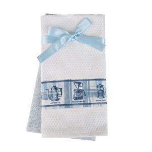купить Набор кухонных полотенец 2шт Home аnd More-Hana Голубой|Белый фото