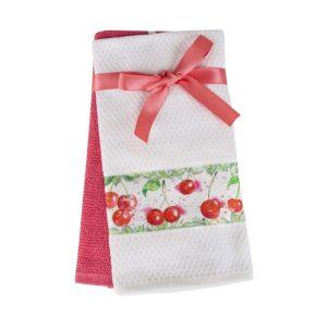 купить Набор кухонных полотенец 2шт Home аnd More-Olca Розовый|Белый фото