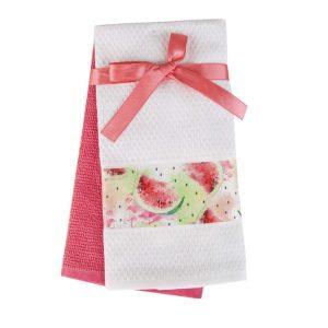 купить Набор кухонных полотенец 2шт Home аnd More-Pinus Розовый|Белый фото