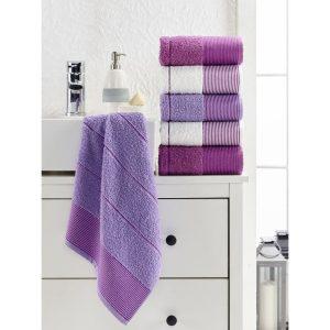 купить Набор полотенец Eponj Home-Vorteks 50x85 6шт fitilli lila Сиреневый фото