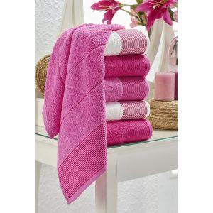 купить Набор полотенец Eponj Home-Vorteks 50x85 6шт fitilli pembe Лиловый фото