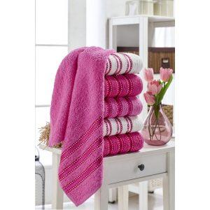 купить Набор полотенец Eponj Home-Vorteks 50x85 6шт makara pembe Лиловый фото