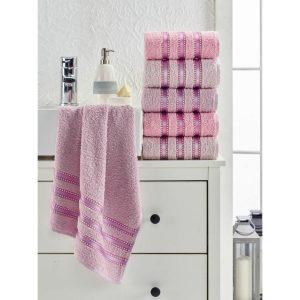 купить Набор полотенец Eponj Home-Vorteks 50x85 6шт makara pudra Розовый фото