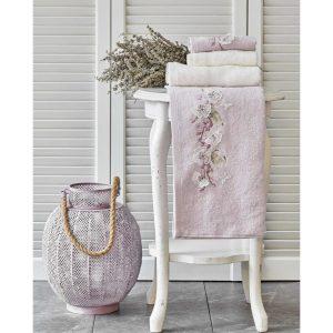 купить Набор полотенец Karaca Home-Lucy lila-offwhite 4шт Розовый фото