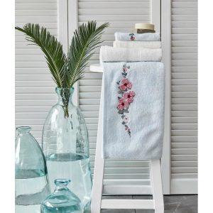 купить Набор полотенец Karaca Home-Orion su yesil-offwhite 4шт Голубой|Кремовый фото