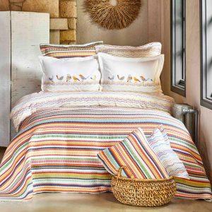 купить Постельное белье с покрывалом Karaca Home-Alegra Mood multi Оранжевый фото