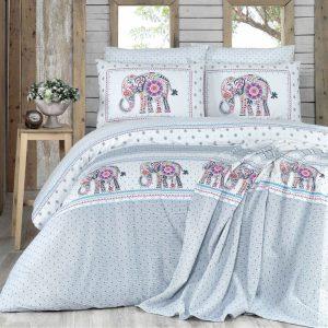 купить Постельное белье с покрывалом пике Karaca Home-Felicia Серый фото
