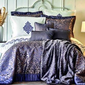 купить Постельное белье с покрывалом и пледом Karaca Home-Queen yakut Фиолетовый фото