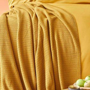 купить Плед Karaca Home-Back To Basic hardal Желтый фото