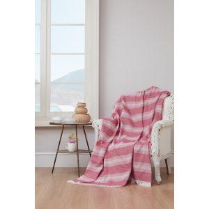 купить Плед-накидка Eponj Home-Denizli Kareli pembe Розовый фото