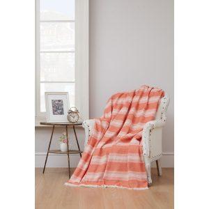 купить Плед-накидка Eponj Home-Denizli Kareli turuncu Оранжевый фото