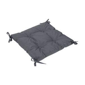 купить Подушка на стул с завязками Iris Home Optima Черно-серый Черный|Серый фото