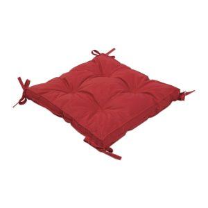 купить Подушка на стул с завязками Iris Home Optima Красный Красный фото