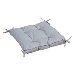 купить Подушка на стул с завязками Iris Home Optima Серый Серый фото