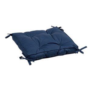 купить Подушка на стул с завязками Iris Home Optima Синий Синий фото