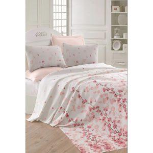 купить Вафельное покрывало пике Eponj Home-Coretta a.pembe Розовый фото