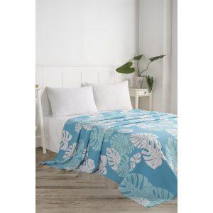 купить Вафельное покрывало пике Eponj Home-Monstera mavi Голубой фото