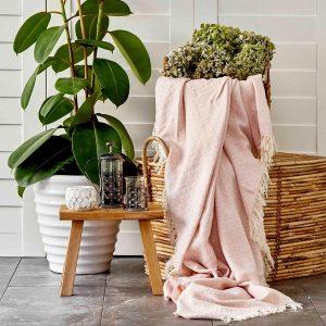 купить Покрывало пике Karaca Home-Delfina pudra Розовый фото