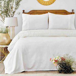 купить Покрывало пике с наволочками Karaca Home Private-Cinthia beyaz Белый фото